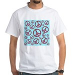 Peace Symbols Galore White T-Shirt