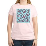Peace Symbols Galore Women's Light T-Shirt