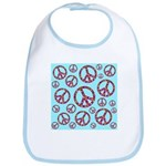 Peace Symbols Galore Bib