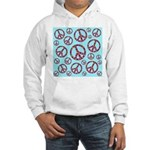 Peace Symbols Galore Hooded Sweatshirt