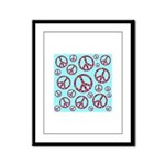 Peace Symbols Galore Framed Panel Print