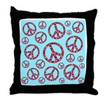 Peace Symbols Galore Throw Pillow