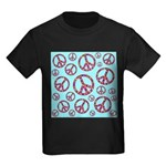 Peace Symbols Galore Kids Dark T-Shirt