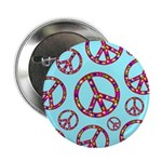 Peace Symbols Galore Button