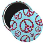 Peace Symbols Galore Magnet