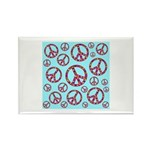 Peace Symbols Galore Rectangle Magnet (10 pack)