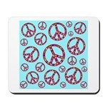 Peace Symbols Galore Mousepad