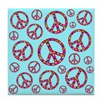 Peace Symbols Galore Tile Coaster