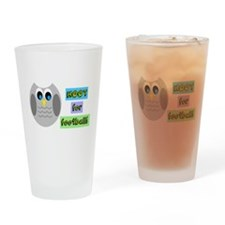 Hoot for football! Drinking Glass