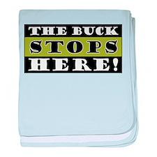 The Buck Stops Here baby blanket
