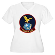 VP 1 Screaming Eagles Women's Plus Size V-Neck Tee