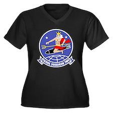 Neptunes Women's Plus Size V-Neck Dark T-Shirt