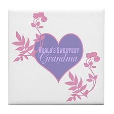 Worlds Sweetest Grandma Tile Coaster