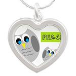 PEACE Owls Necklaces