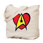Star Trek Heart Tote Bag