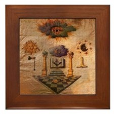 Freemasons Apron Framed Tile