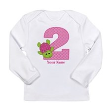 Personalized Pink Turtle 2nd Birthday Long Sleeve