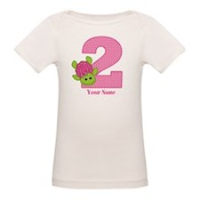 Personalized Pink Turtle 2nd Birthday Tee