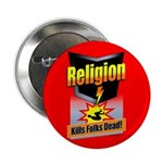 Religion: Kills Folks Dead! Button (100 pack)