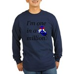 One in a Million Long Sleeve Dark T-Shirt