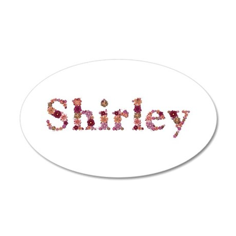 Shirley Pink Flowers 35x21 Oval Wall Decal