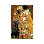 The Kiss & Black Lab Rectangle Magnet (10 pack)