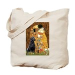 The Kiss & Black Lab Tote Bag