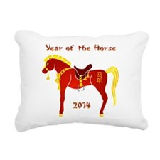 Year of the Horse Rectangular Canvas Pillow