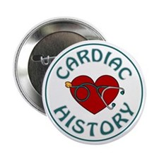 "CARDIAC HISTORY 2.25"" Button (10 pack)"