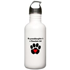 My Granddaughter Is A Chocolate Lab Water Bottle