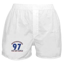 97 year old birthday designs Boxer Shorts