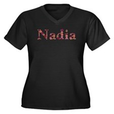 Nadia Pink Flowers Plus Size T-Shirt