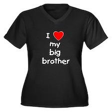 I love my big brother Women's Plus Size V-Neck Dar