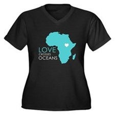 Love Crosses Oceans Plus Size T-Shirt