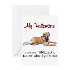 Golden Retriever Valentine3 Greeting Cards (Packa