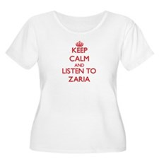 Keep Calm and listen to Zaria Plus Size T-Shirt