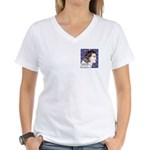 Cuchulain Ft/Bk Women's V-Neck T-Shirt