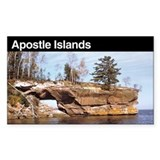 Apostle Islands National Lake Sticker (Rectangular