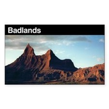 Badlands National Park Rectangle Decal