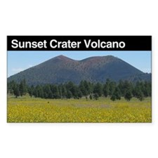 Sunset Crater Volcano Nationa Sticker (Rectangular