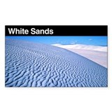 White Sands National Monument Sticker (Rectangular