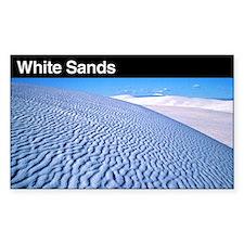 White Sands National Monument Sticker (Rectangular