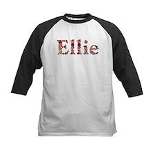 Ellie Pink Flowers Baseball Jersey