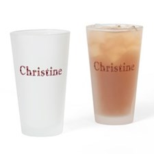 Christine Pink Flowers Drinking Glass