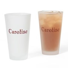 Caroline Pink Flowers Drinking Glass
