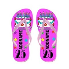 COLORFUL 25TH Flip Flops
