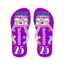 PURPLE 25TH Flip Flops