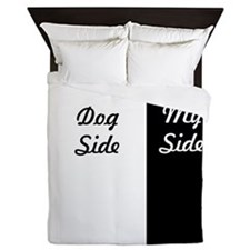 Dog Side / My Side Queen Duvet