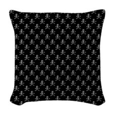 Jolly Roger Skull Pattern Woven Throw Pillow