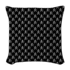 Jolly Roger Skull Pattern Woven Throw Pillow